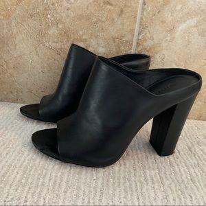 Vince black mule heels
